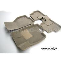 Текстильные 3D коврики Euromat3D Business в салон для Skoda Octavia A7 (2013-2020) № EMC3D-004507T Бежевые