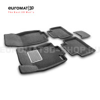 Текстильные 3D коврики Euromat3D Lux в салон для Nissan X-Trail (T32) (2015-) № EM3D-003724G Серые