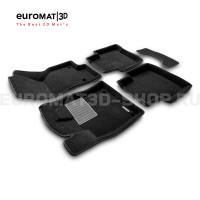 Текстильные 3D коврики Euromat3D Business в салон для Volkswagen Passat B8 (2016-) № EMC3D-004510