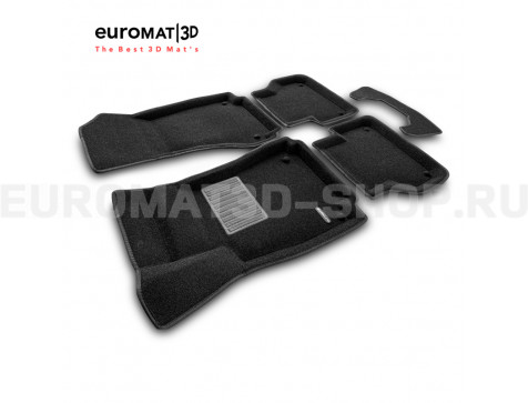 Текстильные 3D коврики Euromat3D Business в салон для Audi A5 (2016-) Sportback № EMC3D-001102