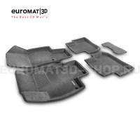 Текстильные 3D коврики Euromat3D Business в салон для Volkswagen Tiguan (2017-) № EMC3D-005415G Серые